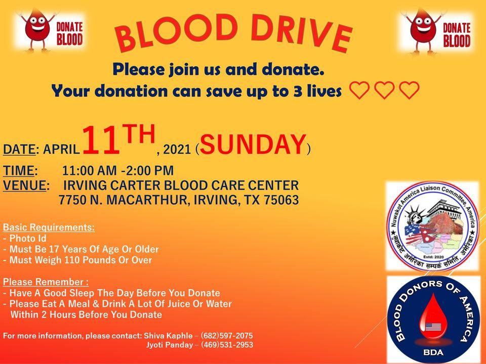 Dallas blood donation Apr-11-2021