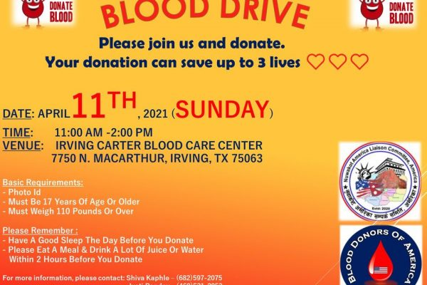 Dallas blood donation Apr-11-2021